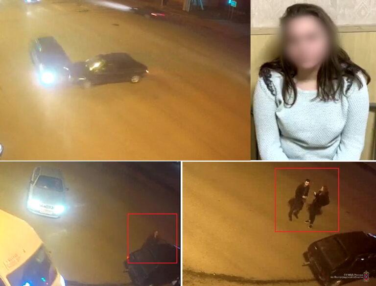 В Волгограде поймали водителя, которая бросила машину на месте аварии