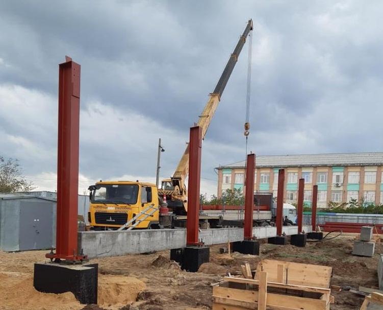 В Краснослободске идет строительство нового ФОКа