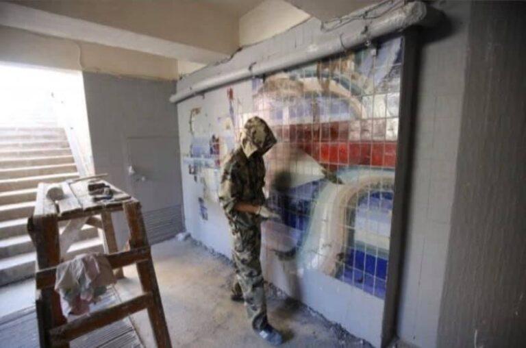 Мозаике Чаплыгина в подземке Волгограда вернули первоначальный вид