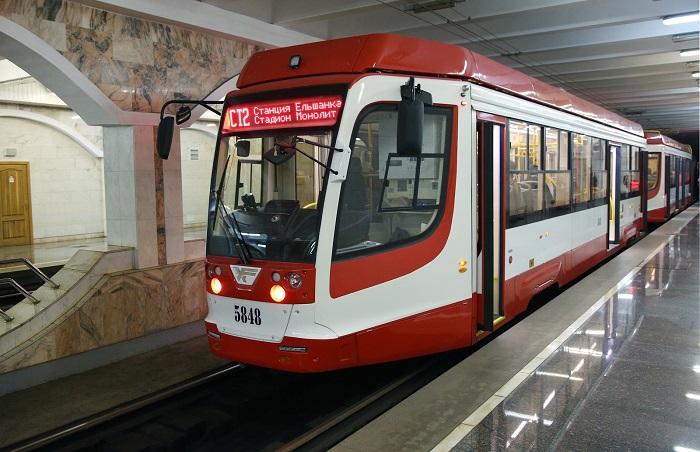 В выходные через «суженный» проспект Ленина будет курсировать скоростной трамвай