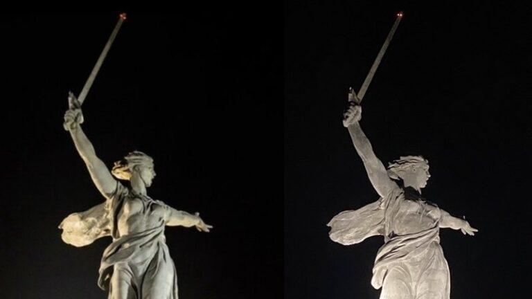 Волгоградцы просят вернуть старую подсветку скульптуре «Родина-мать зовет!»