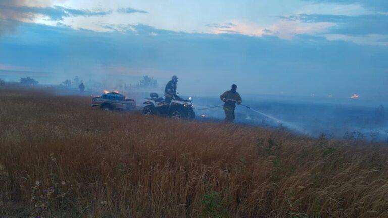 В Дубовском районе задержаны подозреваемые, устроившие пожар у федеральной трассы