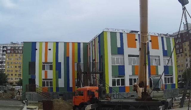 Завершается строительство детского сада в Тракторозаводском районе Волгограда