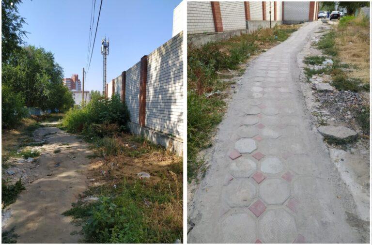 «Осенью без резиновых сапог в детский сад не зайти»: жительницы Волгограда своими силами строят пешеходную дорожку для своих детей