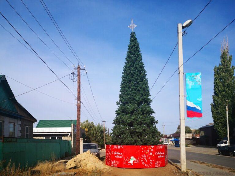 Праздник к нам приходит: в центре Калача установили новогоднюю ель