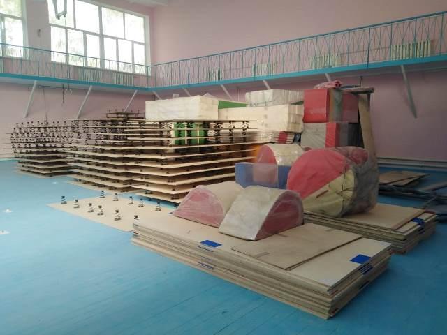 Федерация спортивной гимнастики России выделила партию оборудования спортшколе №1 в Волгограде
