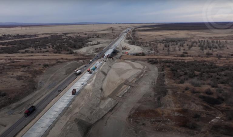 Ремонт автодороги Волгоград-Москва показали с высоты