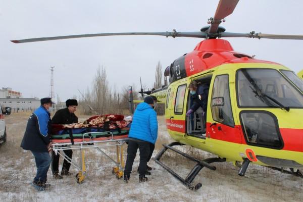 В Астраханской области удалось спасти еще одну жизнь благодаря санитарной авиации