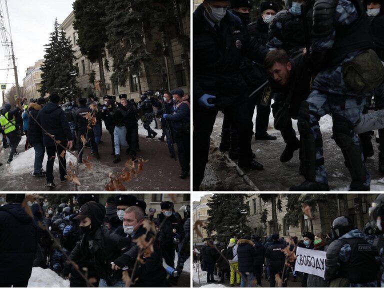 В Волгограде посчитали задержанных на незаконной массовой акции