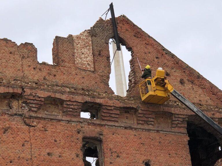 В Волгограде эксперты приступили к обследованию обрушившейся мельницы Гергардта