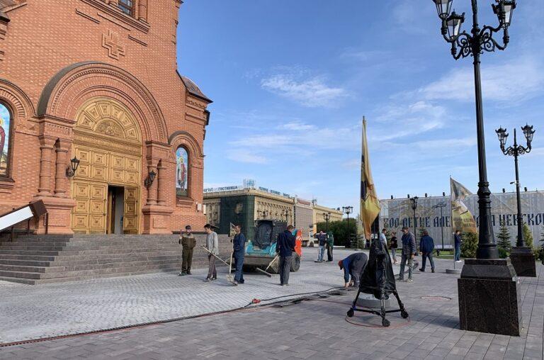 В центре Волгограда навели лоск перед приездом Патриарха